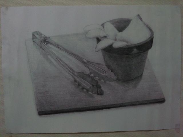 トングと軍手とノートと植木鉢