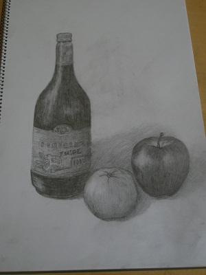 瓶・りんご・デコポン