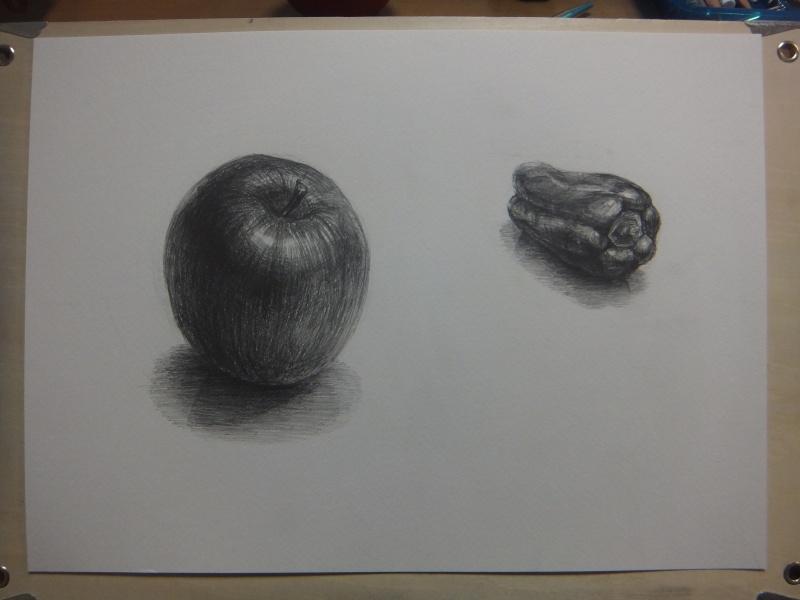 リンゴとピーマン