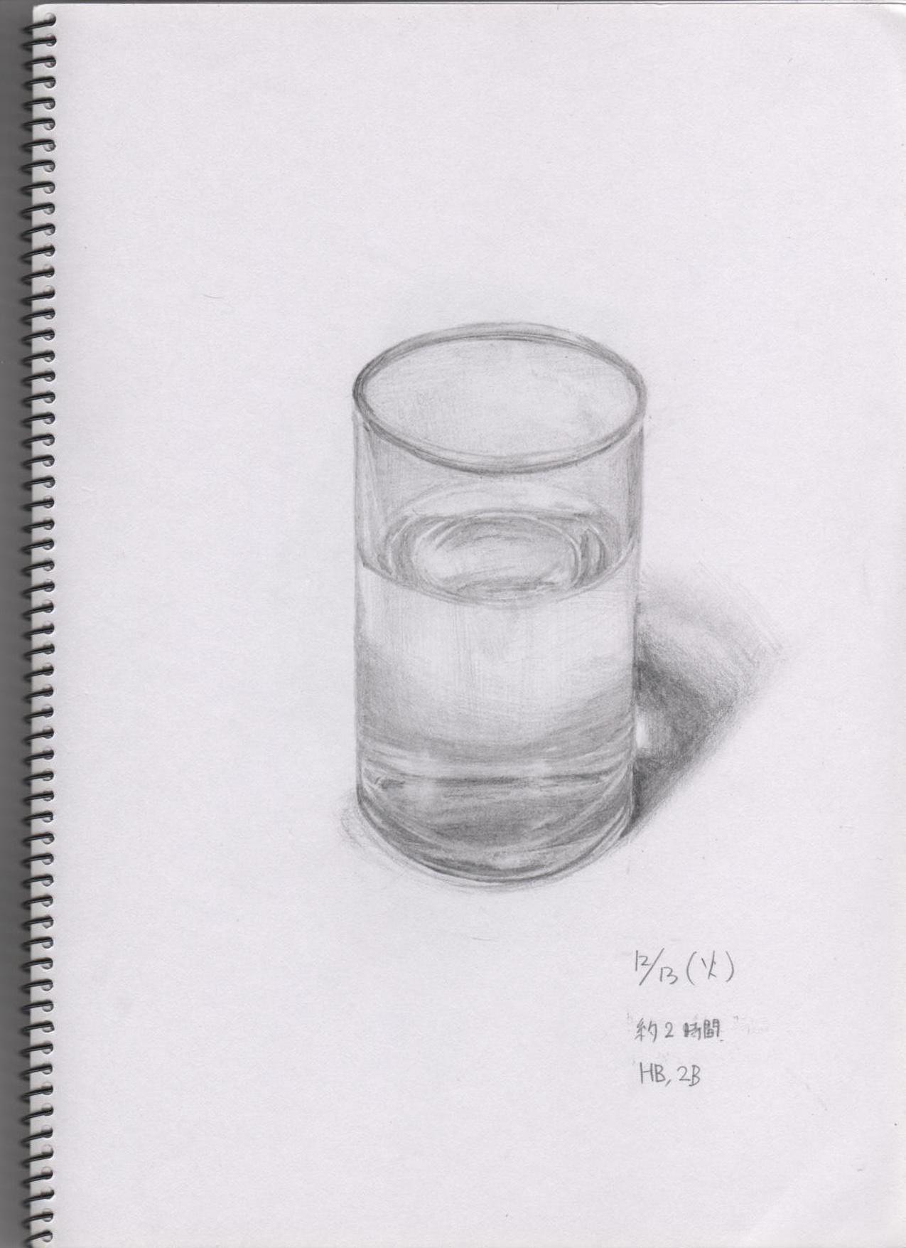 水の入ったコップ