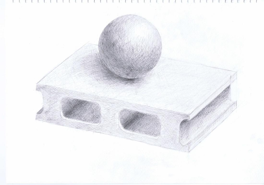 ブロックと球