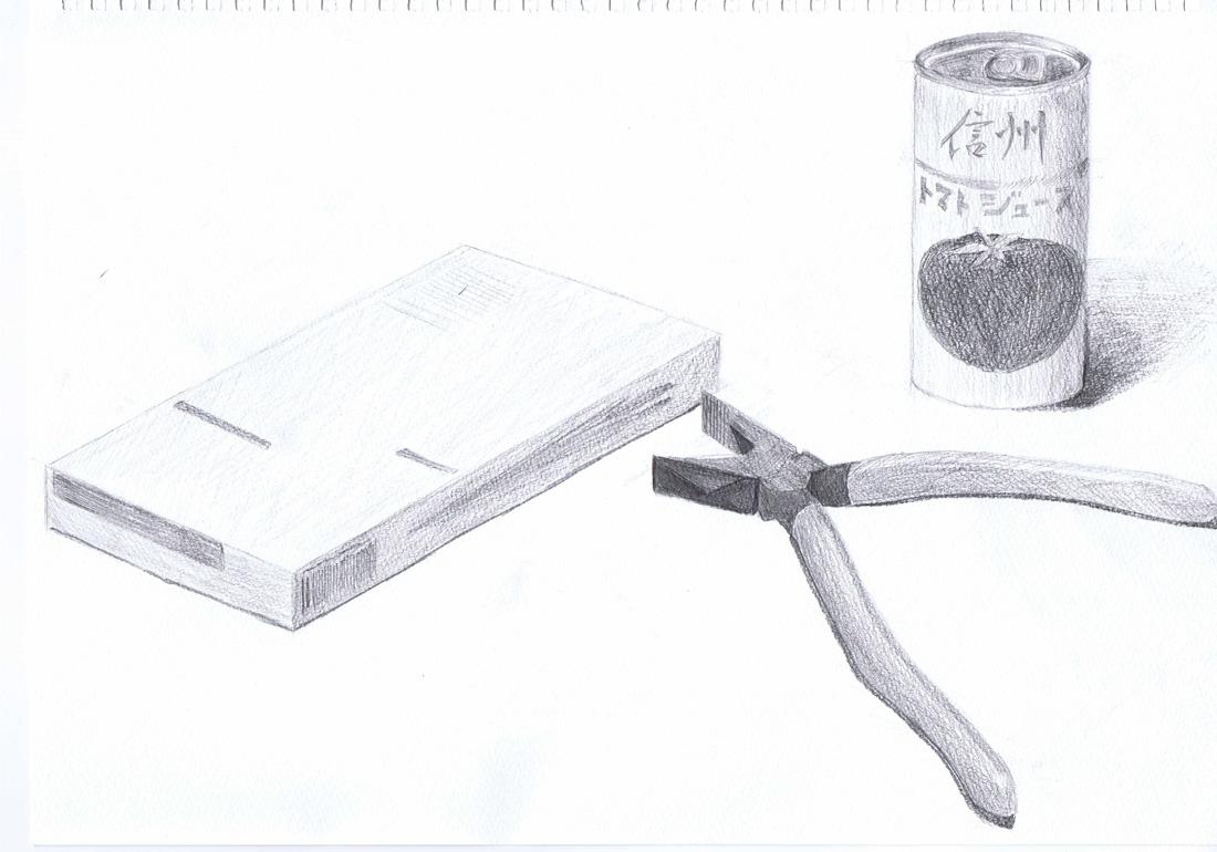 缶ジュースとペンチと箱