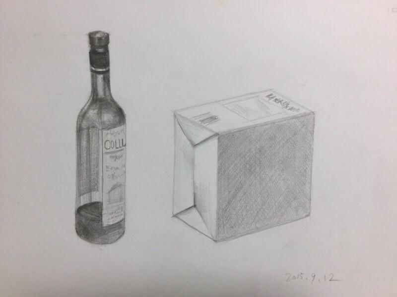 ビン 白い箱