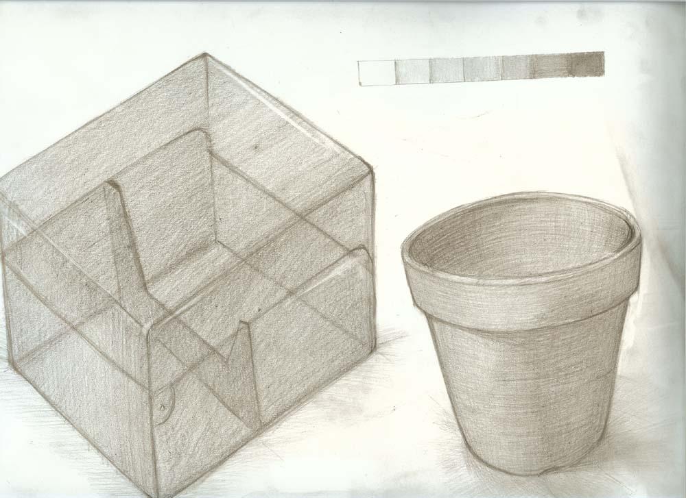 植木鉢とCDケース(クリア)