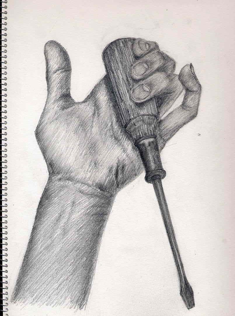 手と工具(今週の24日が入試)