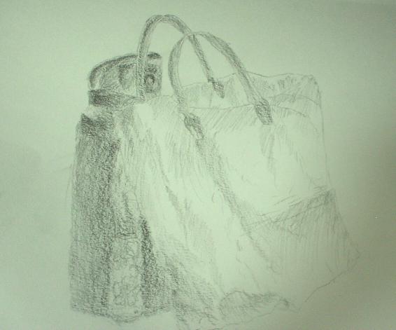 バッグと水筒