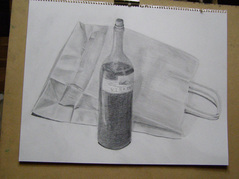 紙袋とボトル